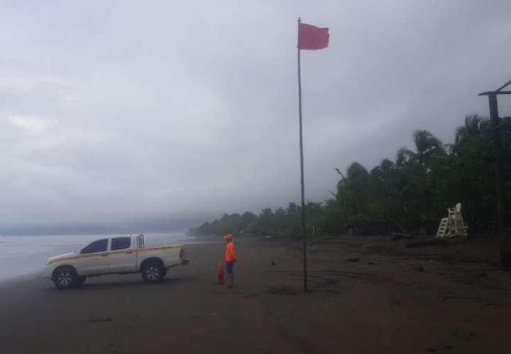 Bandera roja en playas de Chiriquí, Bocas del Toro y Veraguas por mal tiempo