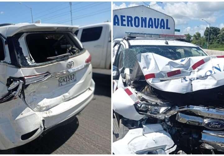 Aeronaval, herido en accidente de tránsito
