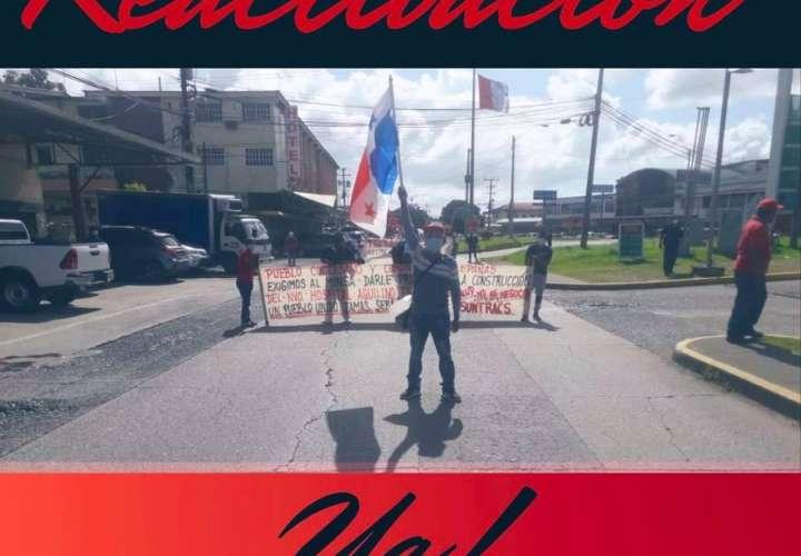 Obreros de Coclé marchan por reactivación de contratos y terminación de obras