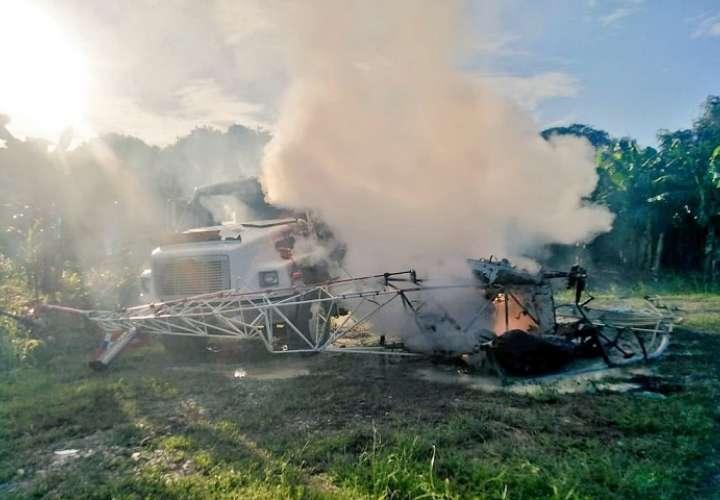 La colisión generó una explosión y posterior incendio.