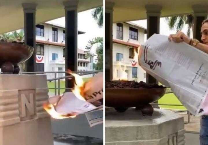 Canal de Panamá repudia acción de jóvenes contra Llama Eterna