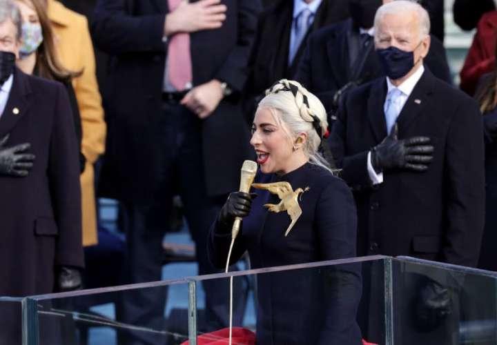 Lady Gaga se roba las miradas en la investidura de Joe Biden