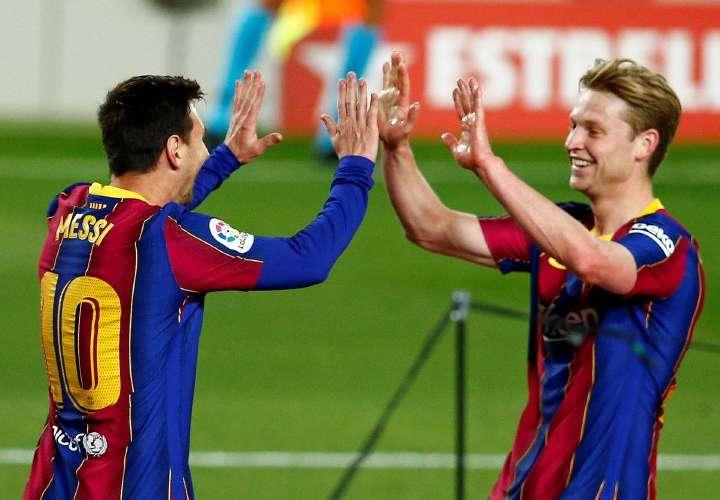 Un FC Barcelona alegre somete al Getafe en la Liga
