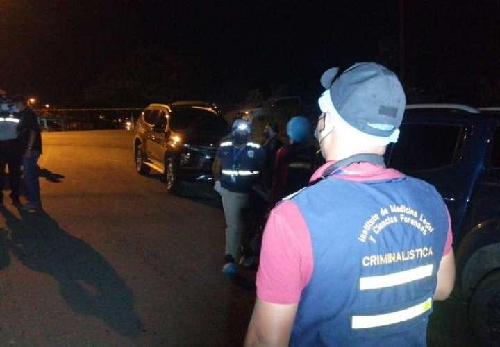 Vista general de la escena del crimen en Chagres.