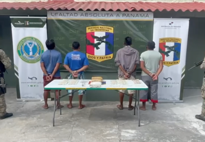 Caen cuatro indígenas con droga y dinero en efectivo en Guna Yala  [Video]