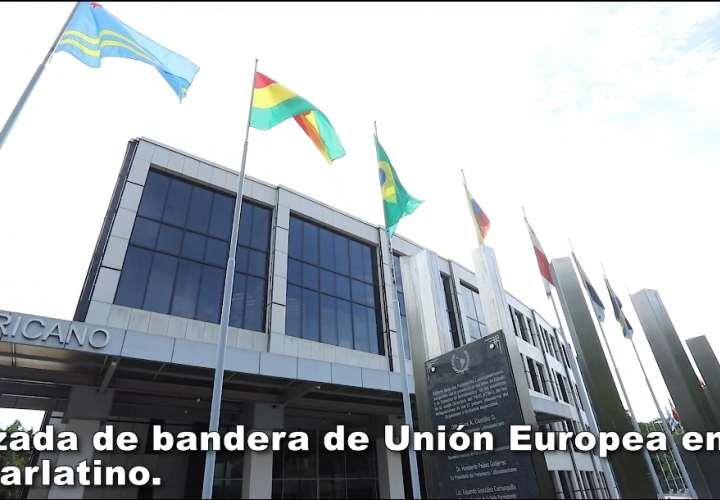 Izan bandera de la Unión Europea en la sede del Parlatino para estrechar lazos