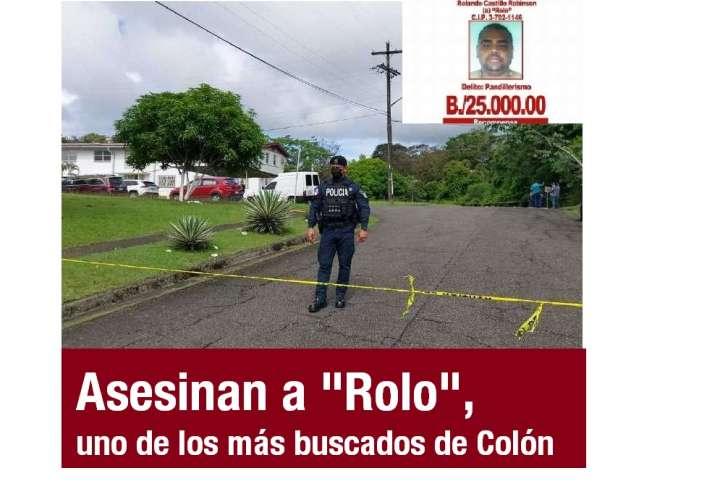 """Asesinan a """"Rolo"""", fue uno de los más buscados de Colón"""