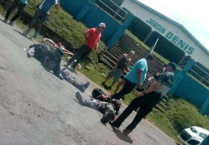 2 Linces lesionados y 4 narcos capturados en Los Santos