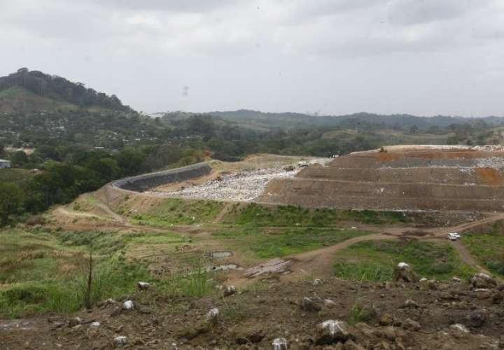 Vista general del relleno sanitario, ubicado en Cerro Patacón.
