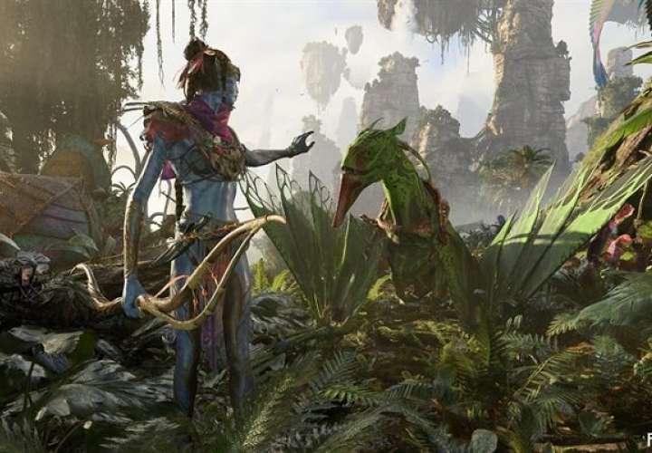 """Imagen muestra una captura del juego """"Avatar: Frontiers of Pandora"""", que la firma presentó en la feria de videojuegos E3 que arrancó este sábado en Los Ángeles, California (EE.UU). EFE"""