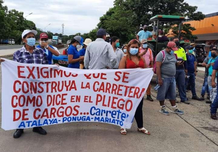 Veragüenses exigen al MOP que cumpla a cabalidad con proyecto carretero [Video]