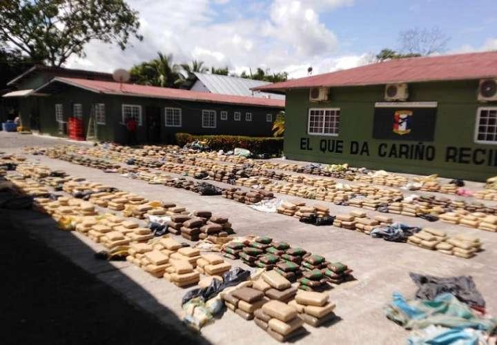La droga fue trasladada hasta la base de Progreso en el distrito de Barú.