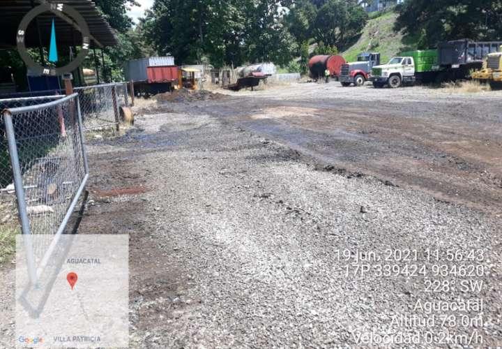 Inspeccionan derrame de asfalto en San Pablo Viejo