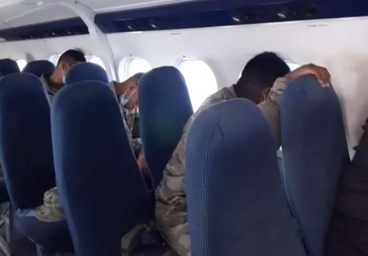 Captura de video de la denuncia.