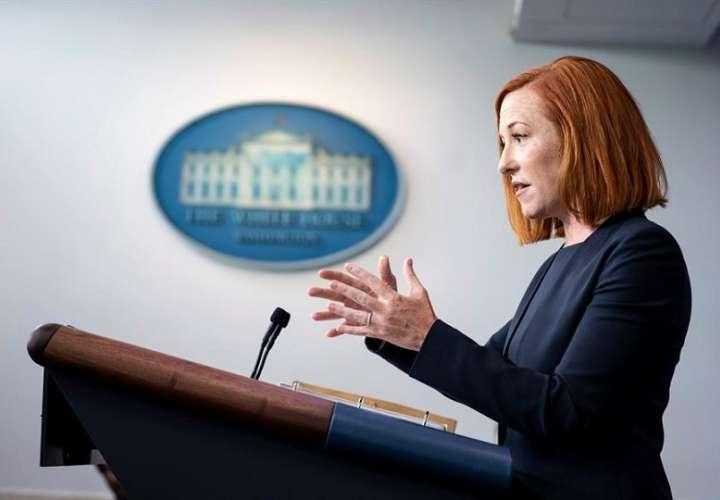 En la imagen, la portavoz de la Casa Blanca, Jen Psaki EFE