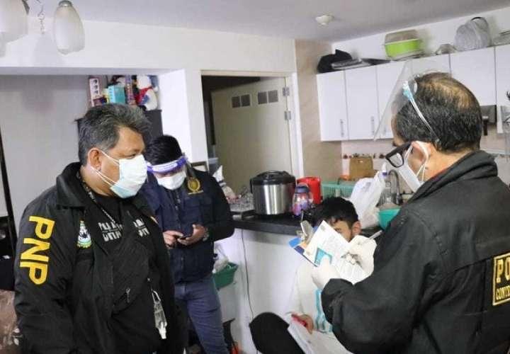 Operativo policial en el Hospital Almenara.Foto: Ministerio del Interior de Perú