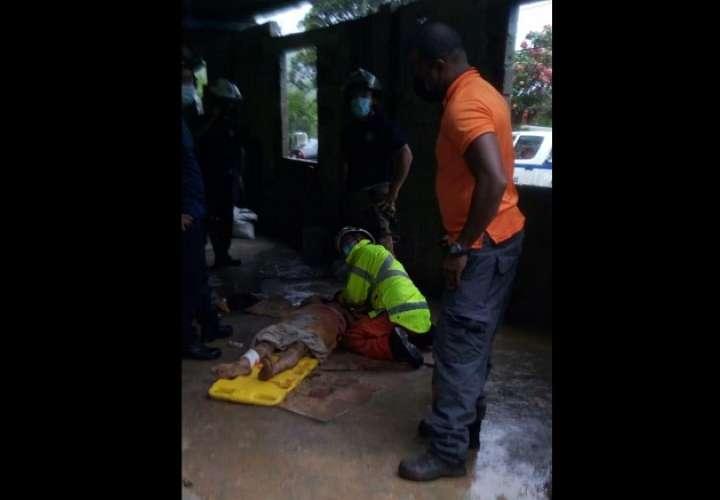 La mujer fue rescatada con vida. Foto: TNP Live
