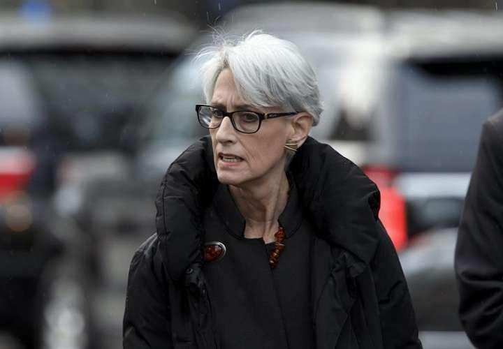 En la imagen aparece la secretaria adjunta de Exteriores de EEUU, Wendy Sherman. EFE