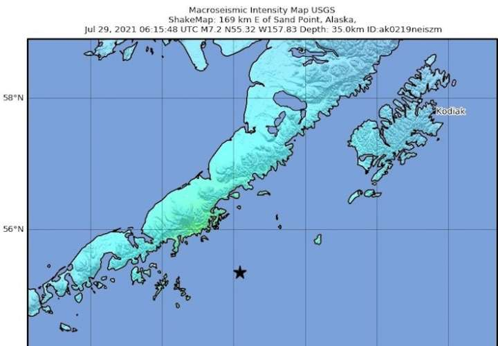 Cancelan la alerta de tsunami en Hawái tras un fuerte terremoto en Alaska