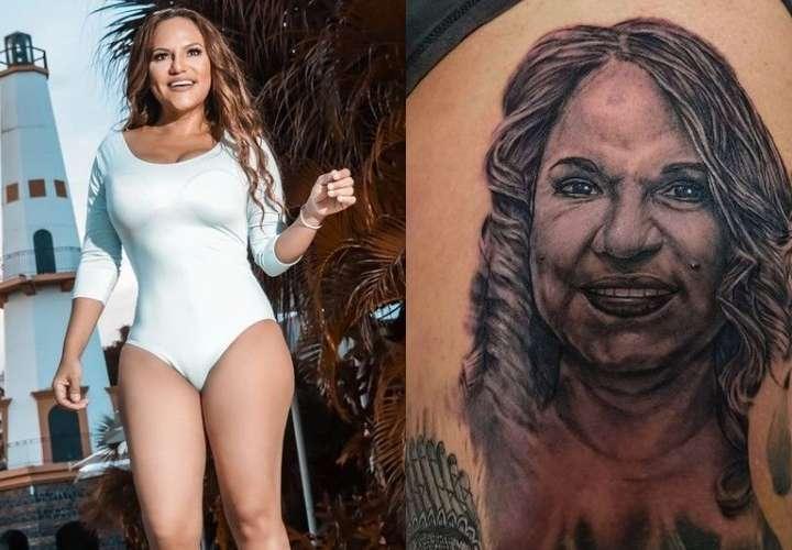 Tatuaje de Sandra causa terror y todo tipo de burlas en redes sociales
