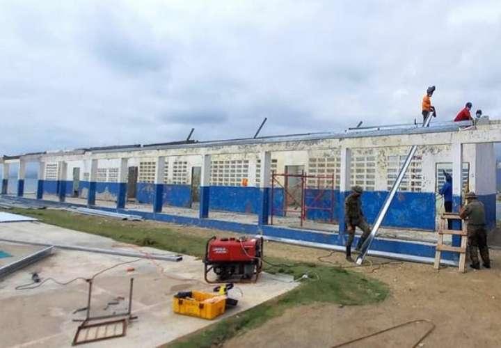 Minseg apoya en el traslado y reparación de centros escolares  en todo el país