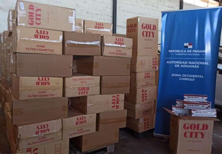 Decomisan 20 pacas de cigarrillo de contrabando; mercancía valorada en $150 mil
