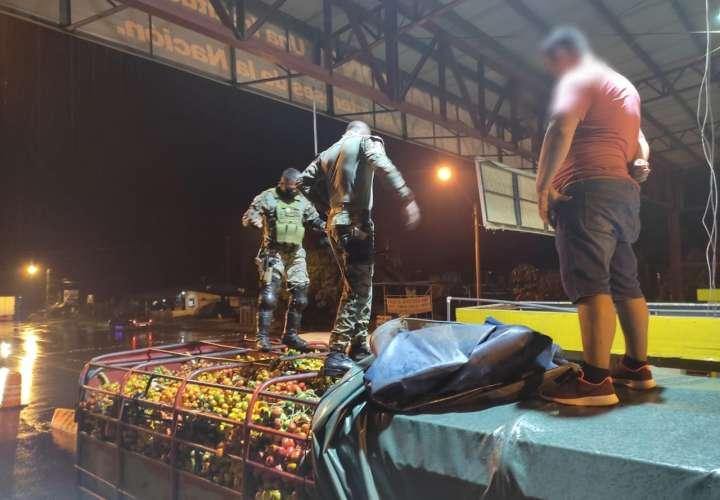 Intentaron evadir puesto con siete toneladas de Pixbae, pero los atraparon