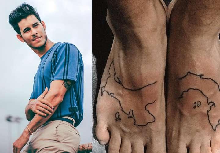 ¿En serio? Critican a Jean Modelo por su tatuaje del mapa de Panamá