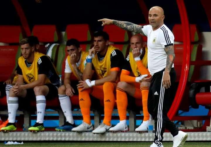 El técnico Jorge Sampaoli ganó un partido, perdió dos y empató uno al frente de la selección de Argentina en Rusia 2018.