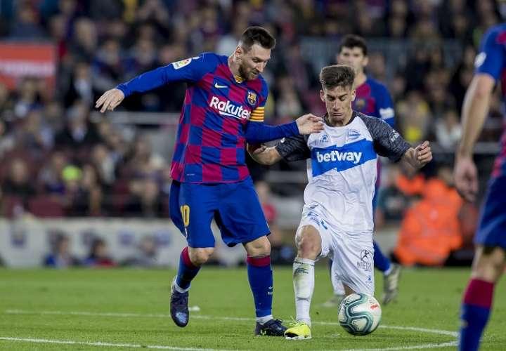 Lionel Messi, delantero del Barcelon. Foto: AP