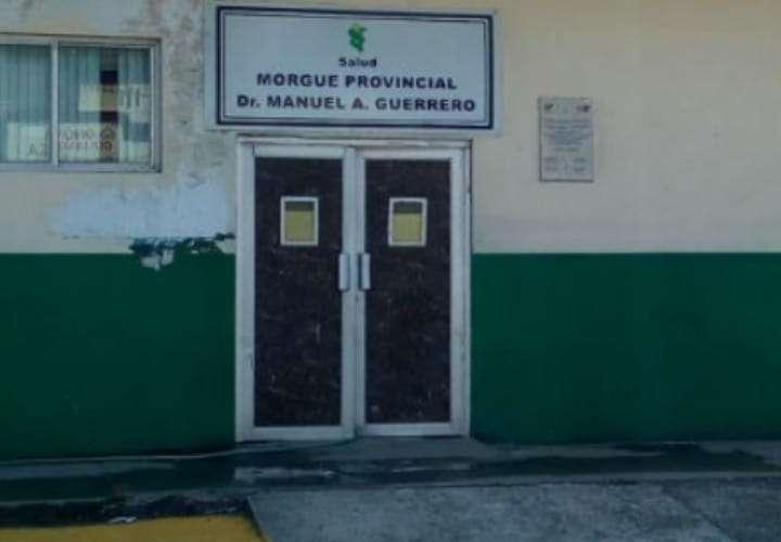 Vista externa de la morgue provincial de Colón ubicada en el hospital Manuel Amador Guerrero.