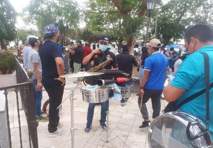 Le tocó a Veraguas salir a protestar con música