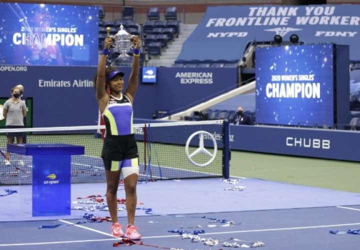 Naomi Osaka, campeona del Abierto de Estados Unidos 2020. Foto: AP