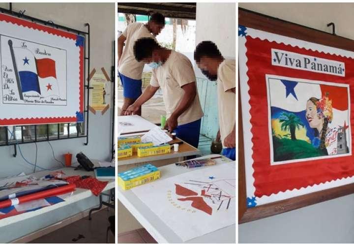 Jóvenes de los centros de cumplimiento le rinden homenaje a la  Patria