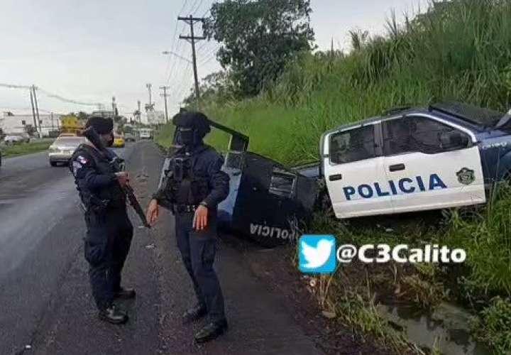 4 policías lesionados en accidente de tránsito en Colón