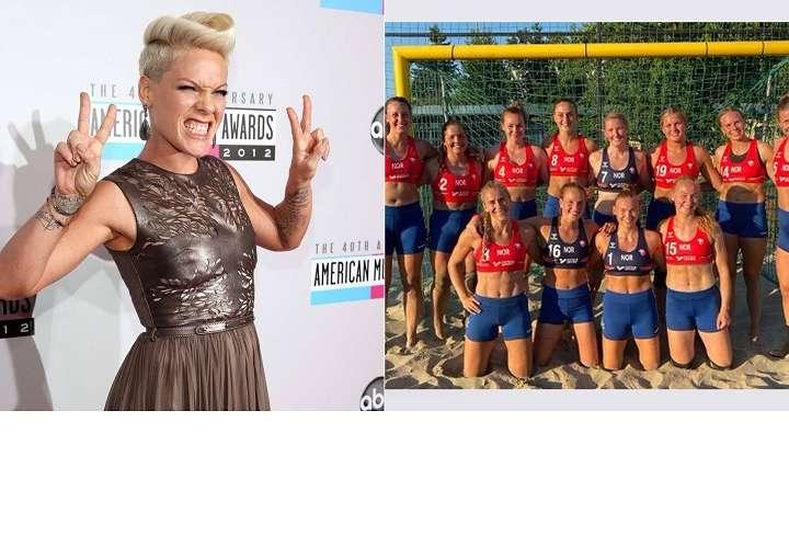 Pink se ofrece a pagar multa del equipo femenino que no quiso jugar en bikini