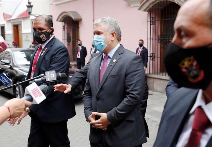En la imagen un registro del presidente de Colombia, Iván Duque. EFE