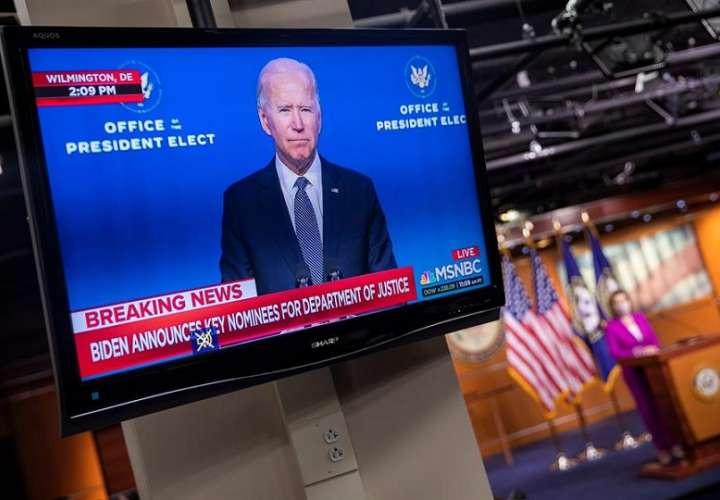Presidente electo de EE.UU., Joe Biden, durante una declaración a los medios este 7 de enero de 2021. EFE