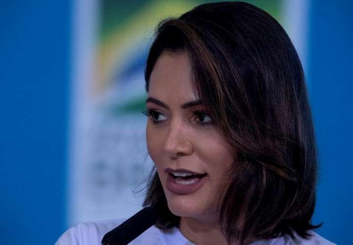 La primera dama de Brasil, Michelle Bolsonaro, en una fotografía de archivo. EFE