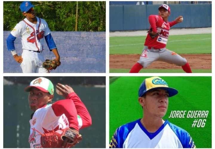 Refuerzos escogidos por los cuatro equipos semifinalistas del Campeonato Nacional de Béisbol Juvenil. Fotos: Fedebeis