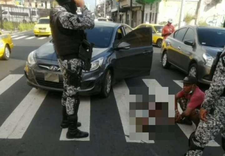Mujer resulta lesionada tras ser atropellada en Colón