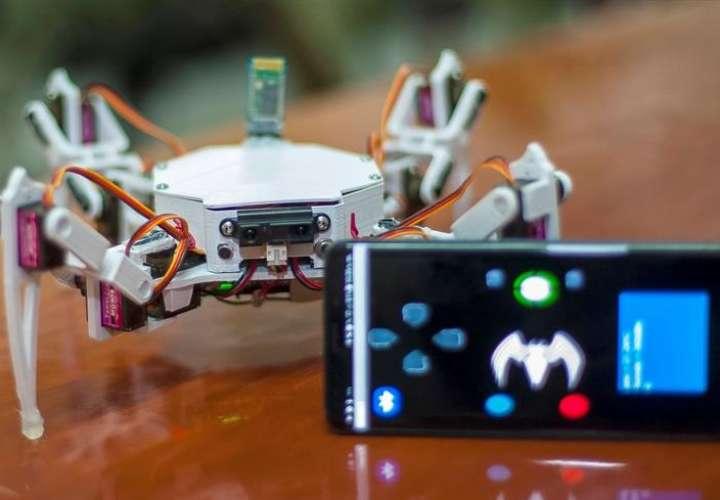 Fotografía cedida este domingo por el Instituto Politécnico Nacional (IPN) de México, que muestra al Robot Arácnido (RDB-10), en Ciudad de México (México). EFE