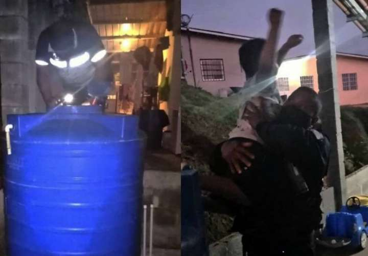 A salvo niño de 5 años que se había metido a tanque de reserva de agua