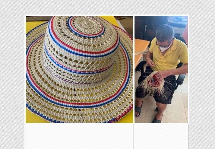 Privados de libertad muestran su talento en la confección sombreros pinta´os