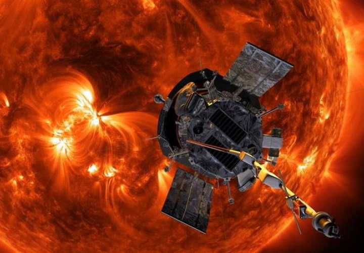 Impresión artística de la sonda solar Parker aproximándose al Sol. Foto EFE / Nasa