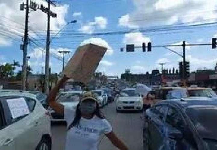 Bloquean vía Interamericana y exige agua  [Video]