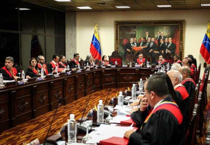 Vista general durante una reunión del Tribunal Supremo de Justicia de Venezuela. EFEArchivo