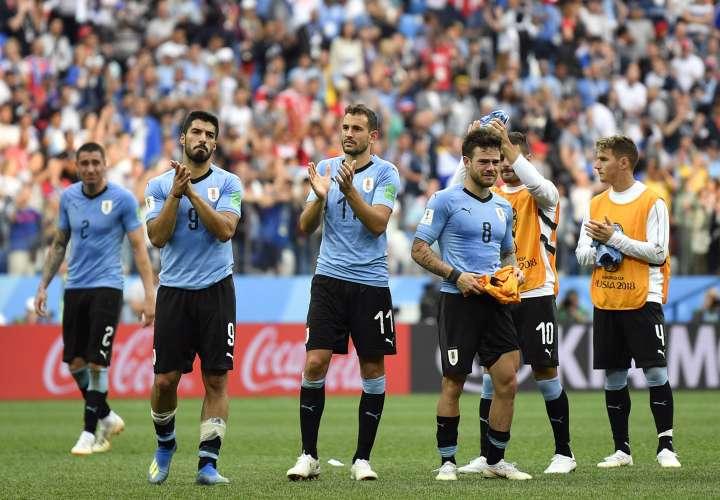 La selección de Uruguay quedó eliminado en los cuartos de final. Foto:EFE