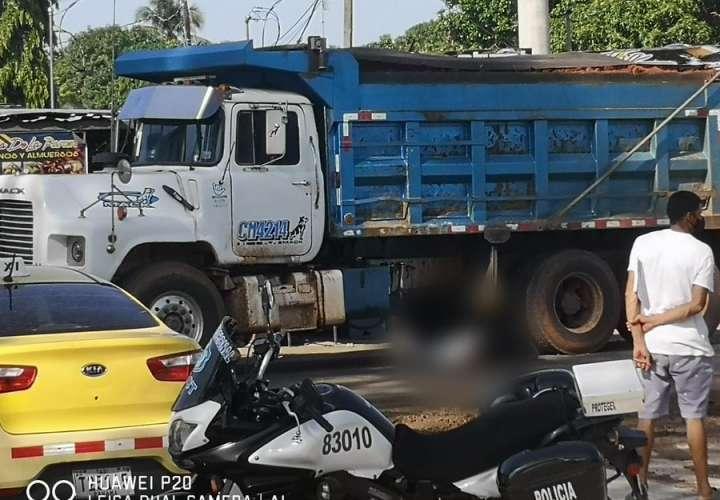 Una mujer muere atropellada por un camión en Pacora