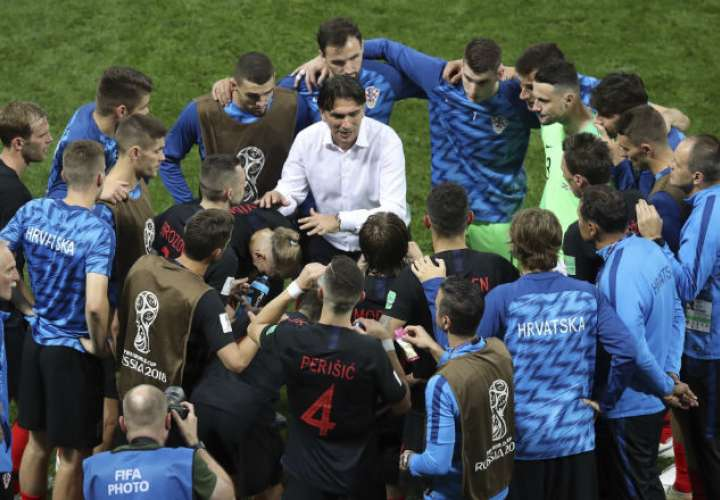 El entrenador de Croacia Zlatko Dalic. Foto:AP